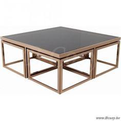 "Lifestyle94-Lifestyle Brooklyn Coffee Table 4+1 120X120X45 <span style=""font-size: 6pt;""> Koffietafel-Salontafel-table-de-salon-table-basse-couchtisch </span>"