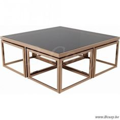 "Lifestyle94-Lifestyle Brooklyn Coffee Table 4+1 120X120X45 <span style=""font-size: 6pt;""> Koffietafel-Salontafel-table-de-salon-table-basse-couchtisch </span>"