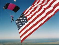 Sky diving with the Star Spangled Banner?  I think so