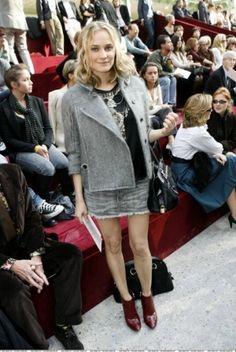 d37e78162c0e Diane Kruger wearing Yves Saint-Laurent Fall 2005 Grey Jacket. Diane Kruger