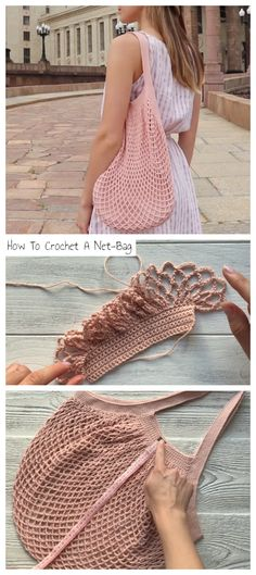How To Crochet A Net-Bag - Crochetopedia Learn how to crochet this pattern with easy video tutorial