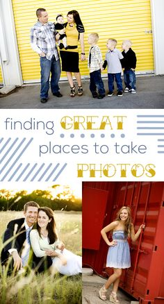 You'd be surprised to see how many great backdrops for photos you can find if you just keep an eye open. If you see a good spot, go for it! Tips on what to look for here: http://www.ehow.com/ehow-tech/blog/scouting-photography-locations/?utm_source=pinterest.com&utm_medium=referral&utm_content=blog&utm_campaign=fanpage