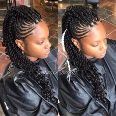325 Likes, 11 Comments - Master Braider Embra bka Em ( on Instagr. Braided Mohawk Black Hair, Braided Mohawk Hairstyles, Cornrow Ponytail, African Braids Hairstyles, Braids For Black Hair, Twist Hairstyles, Cornrow Mohawk, Wedding Hairstyles, Mohawk Braid Styles