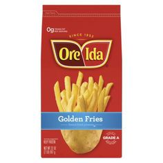 Ore-Ida Golden Fries French Fried Potatoes fave of Mel's. Funyuns Recipe, Oven Baked Fries, Ore Ida, Frozen Potatoes, Burger And Fries, Side Dishes Easy, French Fries, How To Cook Pasta, Gourmet Recipes