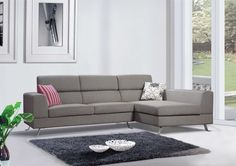 Linen Fabric Sectional Sofa