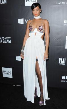 Rihanna attends amfAR LA Inspiration Gala honoring Tom Ford at Milk Studios on Oct. 29, 2014, in Hollywood, California.