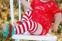 Christmas Leg Warmer  Baby Girl Christmas Leg by PoshPeanutKids, $12.50