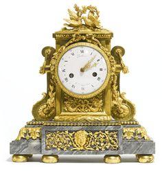 A LOUIS XVI ORMOLU MANTEL CLOCK, ATTRIBUTED TO JEAN-JACQUES LEMOYNE CIRCA 1785…
