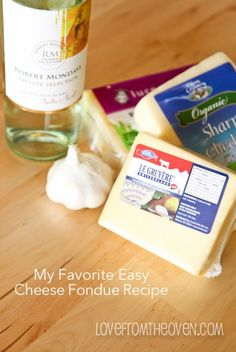 My favorite easy three cheese fondue recipe. So good with a loaf of crusty bread, some granny smith apples and lots of fresh veggies.