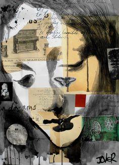 "Saatchi Online Artist: Loui Jover; Paper, Assemblage / Collage ""mandolin"""