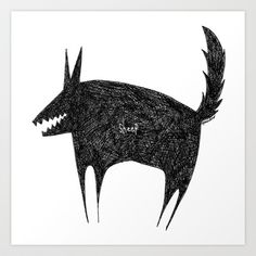 sheep wolf Art Print by ayamiichino - society6 - $18.00
