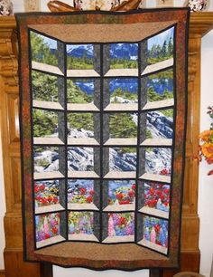 Bay Window Illusion Quilt  by Willowsews