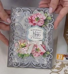 Handmade Birthday Cards, Handmade Cards, Card Crafts, Paper Crafts, Sue Wilson, Anna Griffin Cards, Unique Cards, Pretty Cards, Scrapbooking Layouts