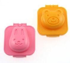 Amazon.com: Kotobuki Plastic Egg Mold, Rabbit and Bear: Kitchen & Dining