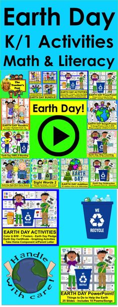 Earth Day activities for Earth Day Graphing, Graphing Activities, Earth Day Activities, First Grade Activities, Math Literacy, Easter Activities, Kids Learning Activities, Spring Activities, Fun Learning, Teaching Resources