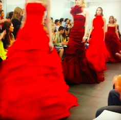 Vera Wang red wedding dresses!! Wow