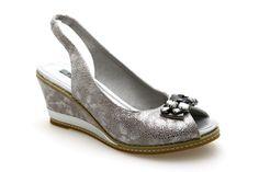 Escarpins compensés FUGITIVE INOLA Gris - Chaussures femme