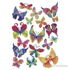 Find Set Different Multicolored Butterflies Vector stock images in HD and millions of other royalty-free stock photos, illustrations and vectors in the Shutterstock collection. Butterfly Clip Art, Diy Garland, Beautiful Butterflies, Beautiful Flowers, Nature Animals, Paint Designs, Botanical Prints, Vector Art, Vector Stock
