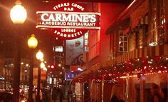Carmine's on Rush Street... went there for dinner in 2010 and enjoyed dining inside... had the roasted chicken and noodles. We walked by one afternoon in Aug 2012 and their outdoor seating looked lovely, surrounded by flower boxes and a nice view of Rush St.