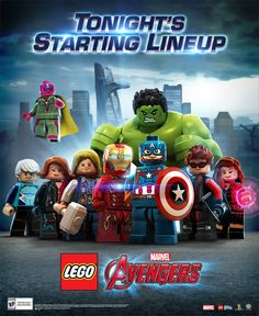 the starting line up Lego Avengers - Google Search