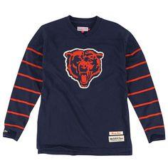 Chicago Bears Mitchell & Ness Cornerback Long Sleeve V-Neck T-Shirt - Navy Blue - $79.99