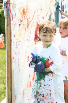 Wouldn't it be fun to have a messy art party?