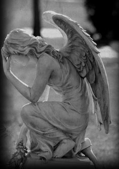 Image uploaded by Genie. Find images and videos about art, angel and statue on We Heart It - the app to get lost in what you love. Cemetery Angels, Cemetery Statues, Cemetery Art, Angels Among Us, Angels And Demons, Statue Ange, I Believe In Angels, Ange Demon, Fantasy Kunst