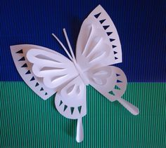 Imagen relacionada Butterfly Template, Butterfly Crafts, Flower Crafts, Craft Activities For Kids, Preschool Crafts, Crafts For Kids, Arts And Crafts, Kirigami, Origami Paper