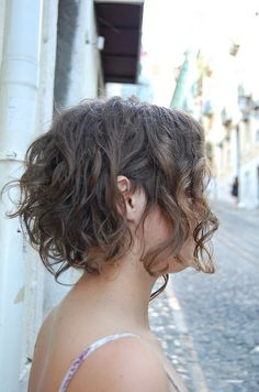 short curly hair after the haircut by wip-hairport, via Flickr