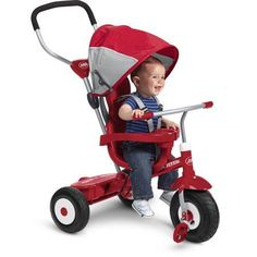 All Terrain Stroll Trike Radio Flyer N Ride Red Deluxe New Tricycle Kids `N Push Adjustable 816z 'N Learn Toy