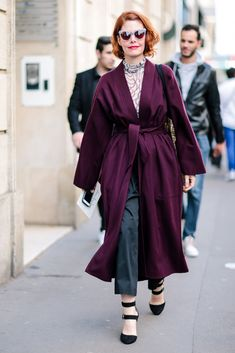 Zanzan 'Erzulie' sunglasses The Best Street Style At Paris Fashion Week SS17 #refinery29  http://www.refinery29.uk/2016/10/124657/street-style-paris-fashion-week-ss17#slide-19  How amazing is our very own Editor-in-Chief Christene Barberich's deep purple coat?...