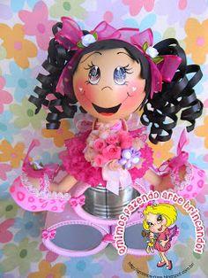Diy Crafts Hacks, Foam Crafts, Preschool Crafts, Craft Tutorials, Diy And Crafts, Doll Face Paint, Fairy Birthday, Clothespin Dolls, Clay Figurine