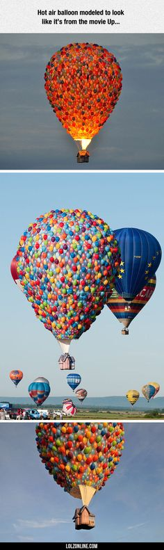 Up Hot Air Balloon #lol #haha #funny