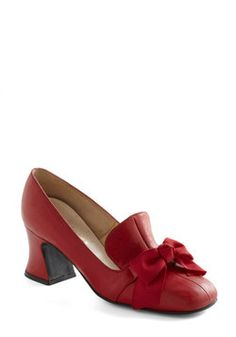 Vintage Reserve Scarlet Heel, #ModCloth  pair with teal/red everyday dress