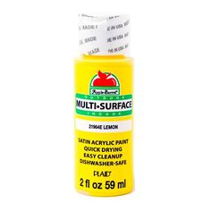 Apple Barrel ® Multi-Surface Satin Acrylic Paints - Lemon, 2 oz.