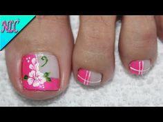 Cute Nail Art, Cute Nails, My Nails, Cute Pedicure Designs, Toe Nail Designs, Cute Pedicures, Summer Toe Nails, Flower Nail Art, Pretty Hands
