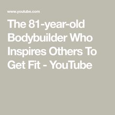 Ernestine began her fitness journey at age and at age 71 she won her first bodybuilding competition. Now she inspires others to get into fitness - whatev. Old Bodybuilder, Bbc Three, Bodybuilding Competition, Inspire Others, Year Old, Knowing You, How To Get, Fitness, Youtube