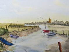 Watercolour Boats - By Bazza