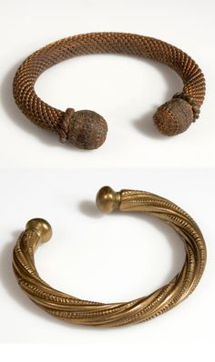 Africa | Bracelets from the Wolof people. Mali or Senegal | Bronze | ca. 1964 || American Museum of Natural History Collection