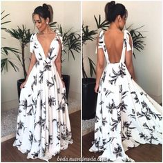 Bohemian V Neck Belted Printed Colour Bare Back Dress – Stylnbo Bare Back Dress, Dress Backs, The Dress, Dress Skirt, Casual Dresses, Prom Dresses, Summer Dresses, Formal Dresses, Summer Maxi