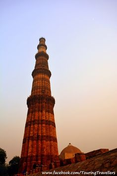 Built in the 12th century...hats off to the workers who built this masterpiece. #QutubMinar #TouringTravellers