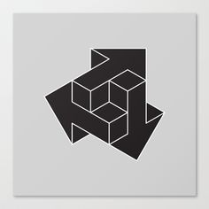 Arrows Art Print by dizzymoments Geometric Logo, Geometric Designs, Geometric Shapes, Arte Linear, Isometric Drawing, Arrow Art, Geometry Art, Illusion Art, Canvas Prints