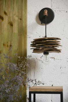 Shingle & copper wall lamp Gie El