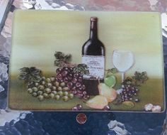 Wine Grapes Glass French Country Cutting Board 12 X 8 Barware in Home & Garden, Kitchen, Dining & Bar, Kitchen Tools & Gadgets | eBay