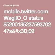 mobile.twitter.com WagliO_O status 852001852375937024?s=09