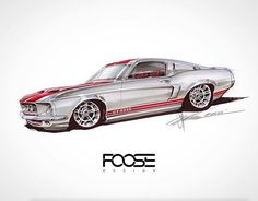 58 ideas motorcycle drawing sketches chip foose for 2019 1967 Mustang, Ford Mustang Eleanor, Mustang Fastback, Chip Foose, Car Design Sketch, Car Sketch, Design Art, Muscle Cars, Ford Classic Cars