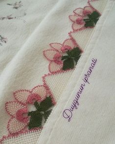 Needle Lace, Filet Crochet, Diy And Crafts, Elsa, Istanbul, Instagram, Crochet Flowers, Dish Towels, Cross Stitch Embroidery