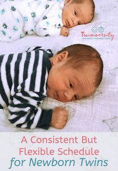 Learn how to create a consistent but flexible schedule for newborn twins from a twin mom who's been there, including advice and tips. Twin Baby Boys, Twin Mom, Twin Babies, Mom And Baby, Carters Baby, Twins Schedule, Newborn Schedule, Toddler Schedule, Newborn Twins