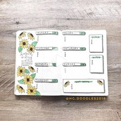 august bullet journal Its been a popular theme during summer! So we have forund 43 sunny stunning sunflower bullet journal layout ideas and spreads to show you and Bullet Journal Weekly Spread, Bullet Journal August, Bullet Journal Tracker, Bullet Journal Notes, Bullet Journal Junkies, Bullet Journal Ideas Pages, Bullet Journal Layout, Journal Themes, Birthday Bullet Journal