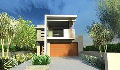 Como - 1387 - Custom designed home on a narrow block front elevation ...